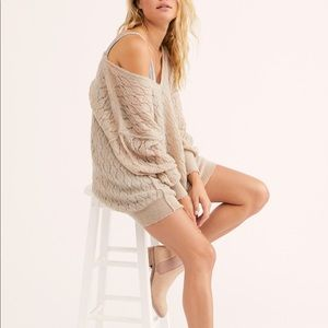 Free People Say Hello Open Knit Sweater